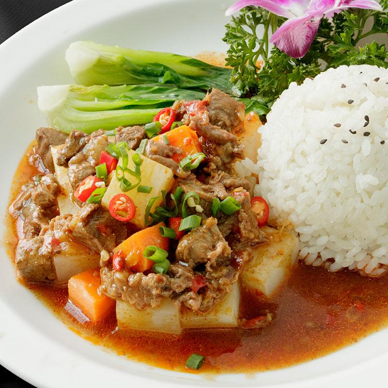 福建厦门冷冻中式快餐料理包 土豆烧牛肉 即食方便饭 秘传料理包 快餐外卖料理包直批