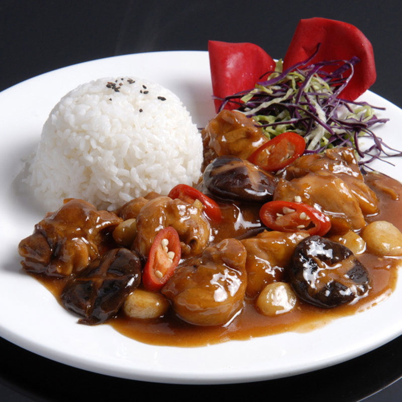 福建漳州料理包厂家 香菇滑鸡 快餐盖浇饭速食食品 半成品方便菜 外卖料包 加热商用盒饭