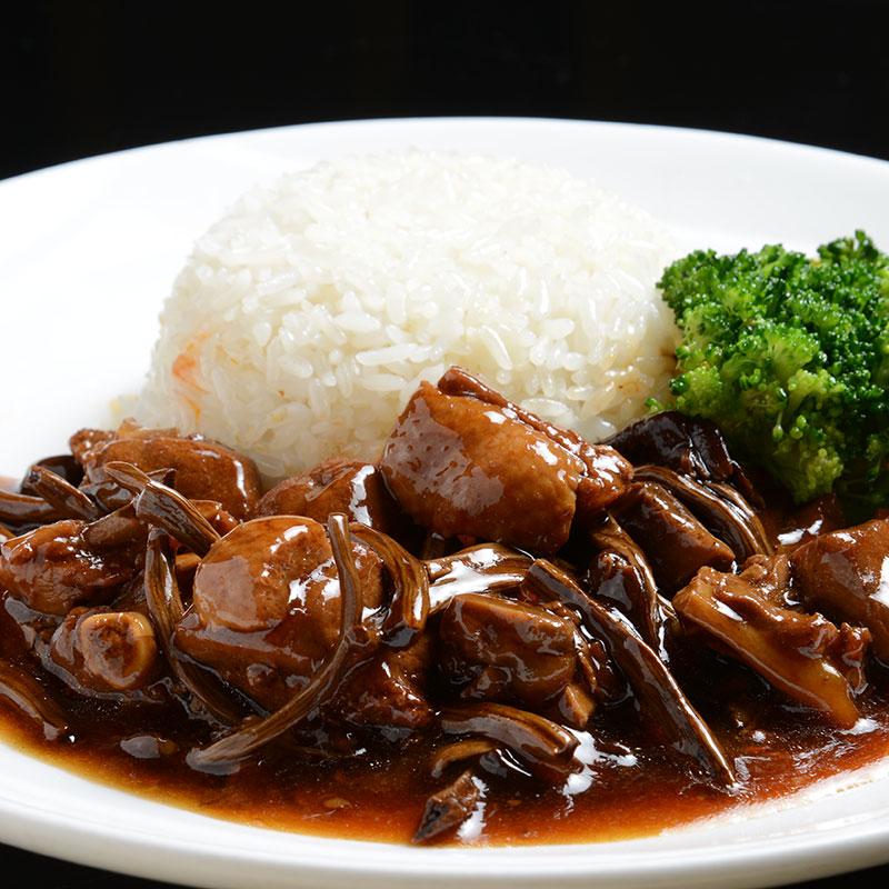 福建厦门料理包批发 茶树菇鸭肉200g 快餐半成品速冻食品盖饭料理包外卖速食餐包